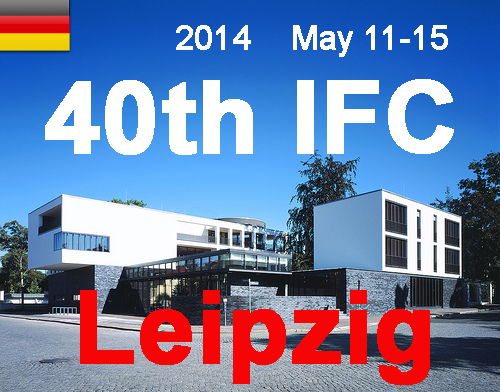 2014 40th Leipzig , May 12-16 poster