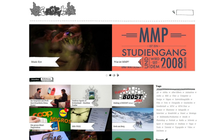 Digezz, a creative multimedia platform of the University of Applied Sciences, Chur, Switzerland.