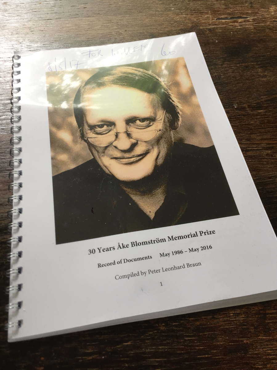 30 Years Åke Blomström Memorial Prize -- Record of Documents 1986–2016 -- Compiled by Peter Leonhard Braun